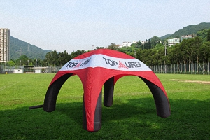 inflatable spider tent-red black