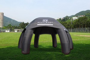 large inflatable tent-black