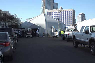 San Diego spending millions to build elaborate tent facility for homeless